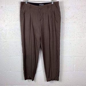 Vince Sz 8 Brown??? Pants. Pockets. Layered Hems.